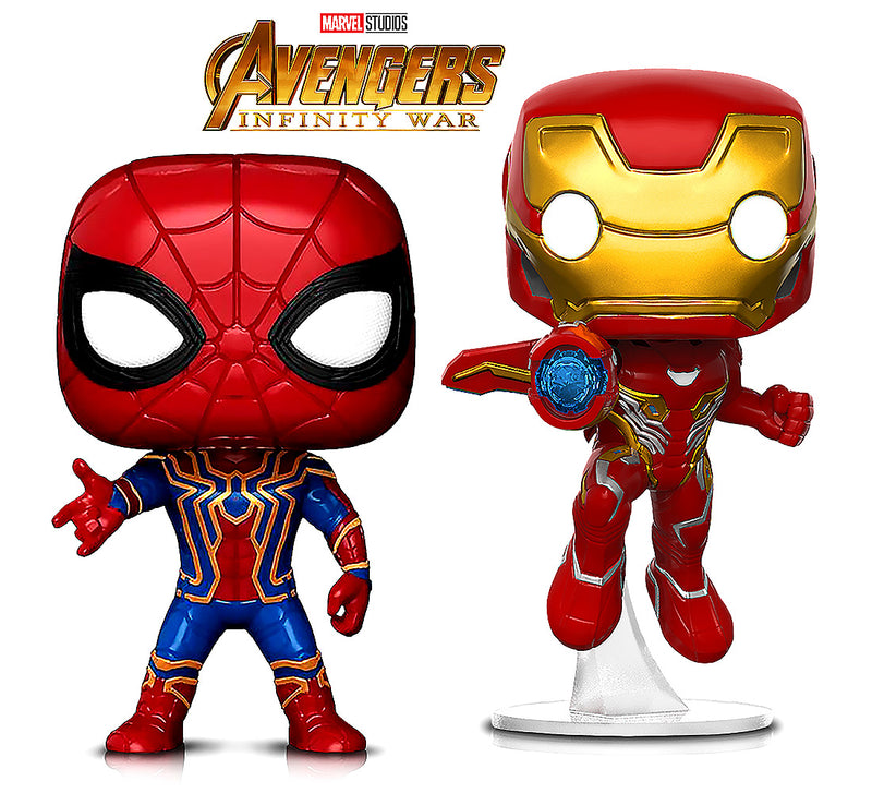 Funko Pop Marvel Infinity War Iron Man And Iron Spider Action Figures Toys (2 Items Included) Action Figures Toys