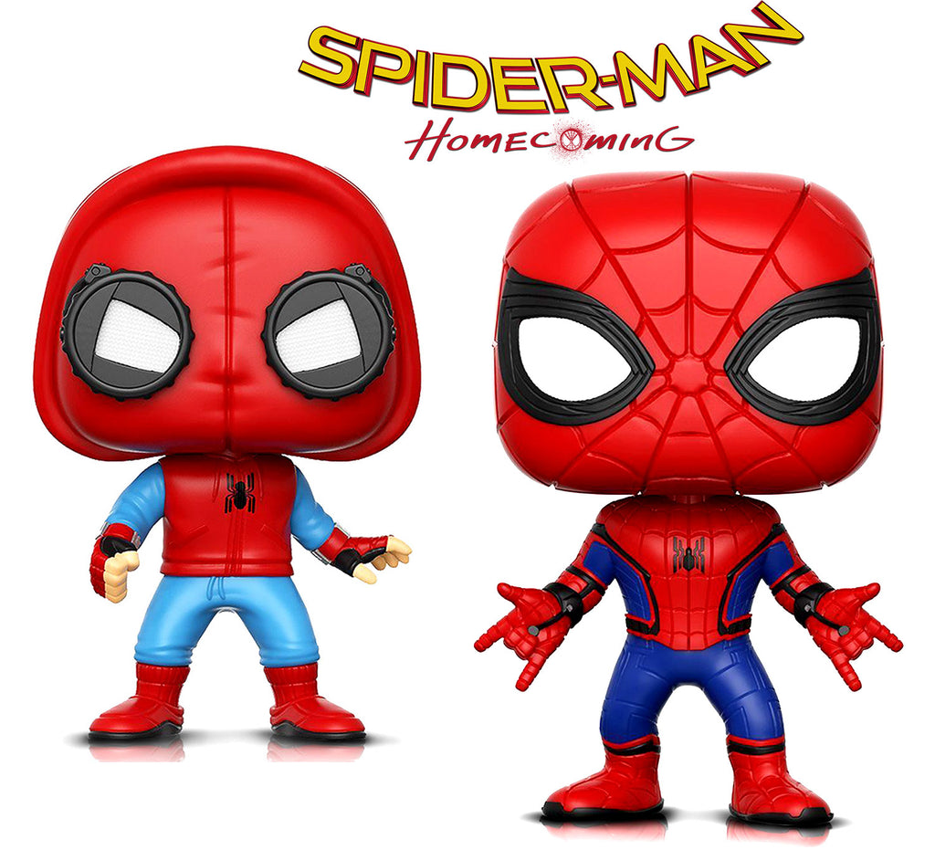 Funko Pop Marvel Spider-Man And Spider-Man Proto Action Figure Toys