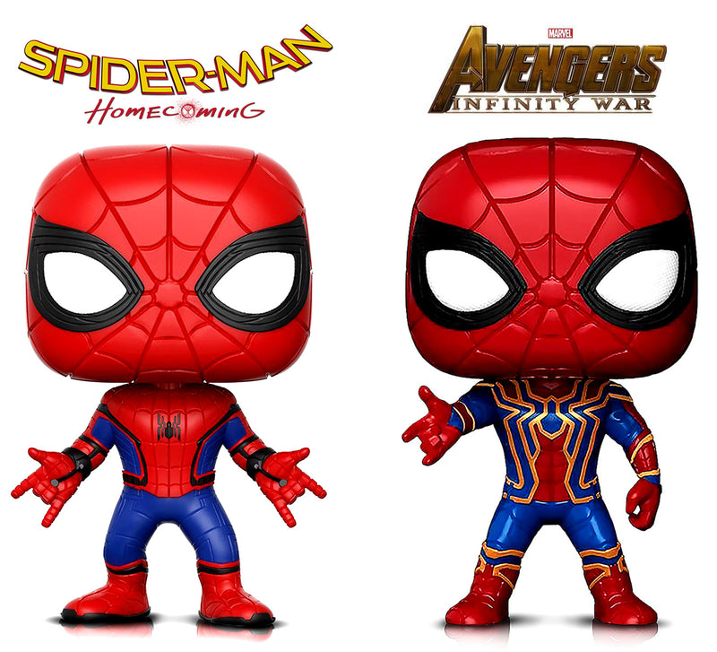 Funko Pop Marvel Spider-Man And Infinity War Iron Spider Action Figures Toys