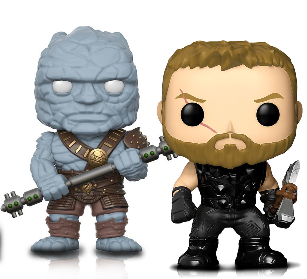 Funko Pop Marvel Infinity War Thor And Thor Ragnorok Korg Collectible Vinyl Figure Toys