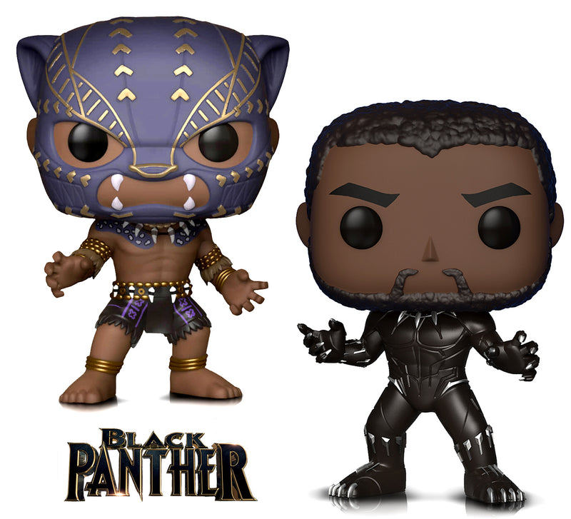 Funko Pop Marvel Black Panther And Warrior Fall Action Figures Toys