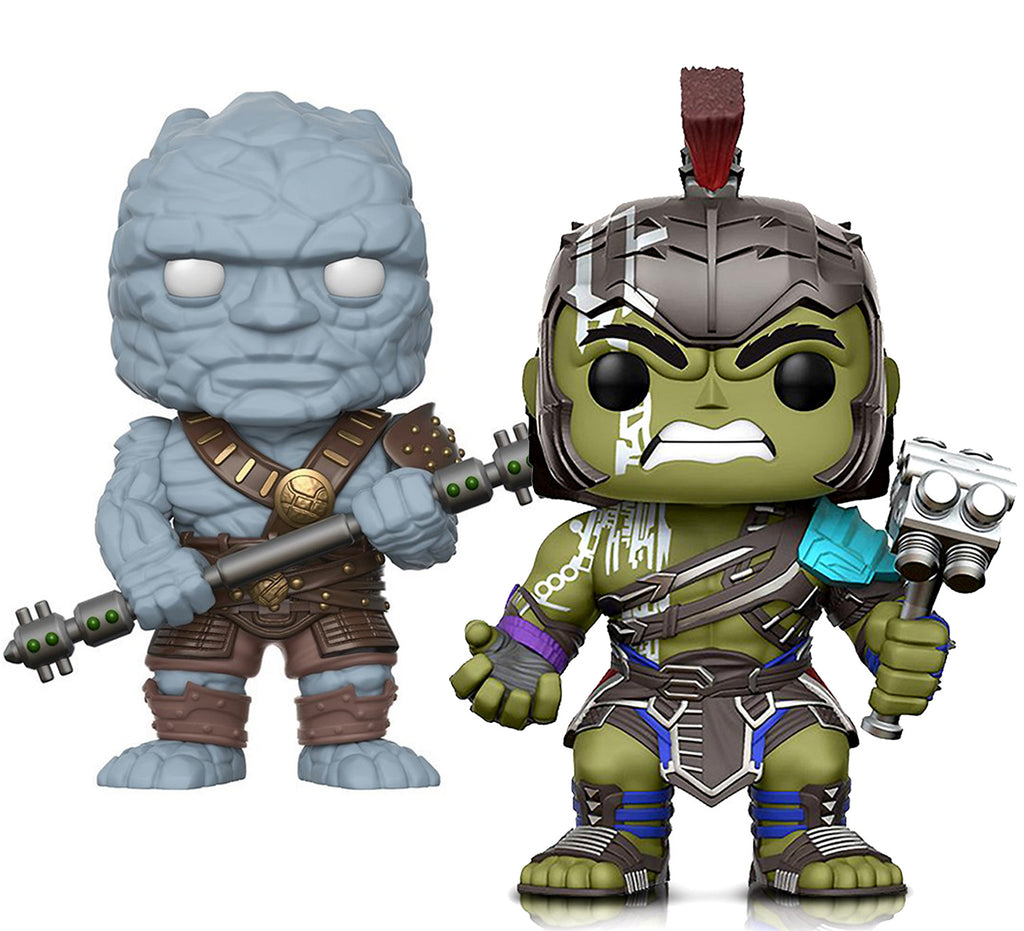 Funko Pop Marvel Thor Ragnarok Hulk Helmeted Gladiator And Korg Collectible Vinyl Action Figures Toys