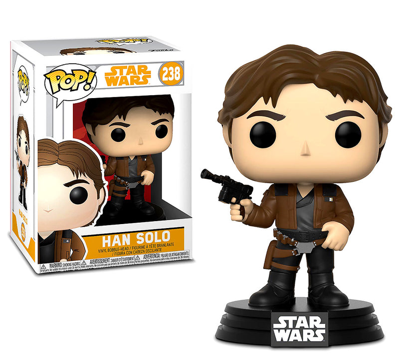 Pop Star Wars Solo Chewbacca and Han Solo Bobble Heads