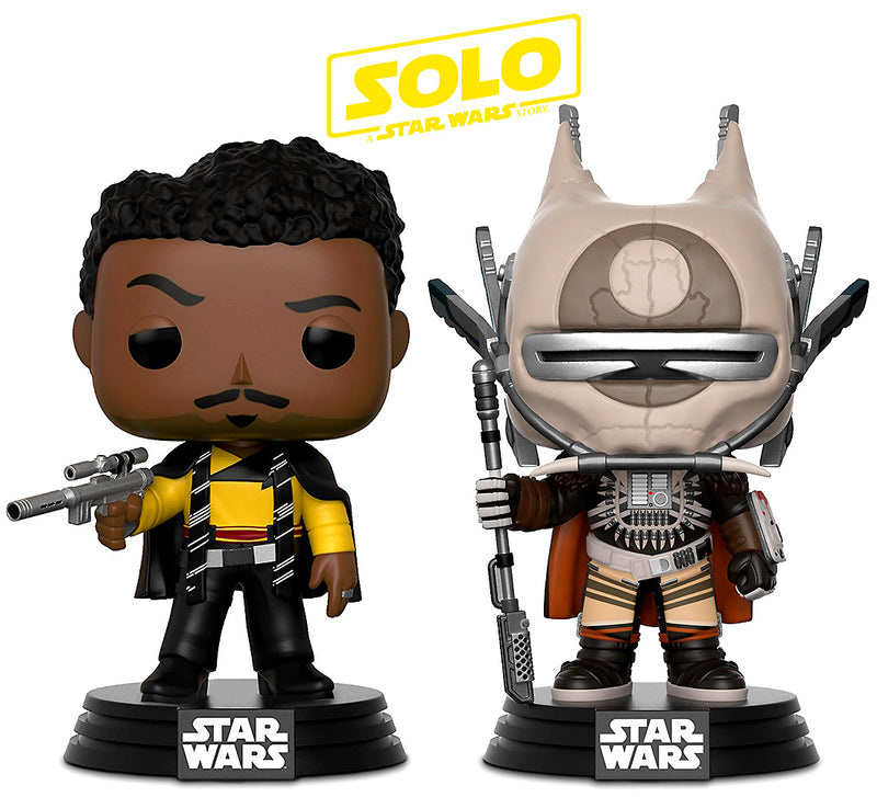 Pop Star Wars Solo Enfys Nest and Lando Calrissian Bobble Heads