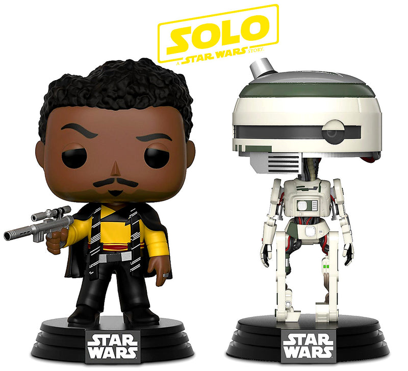 Pop Star Wars Solo L3-37 and Lando Calrissian Bobble Heads