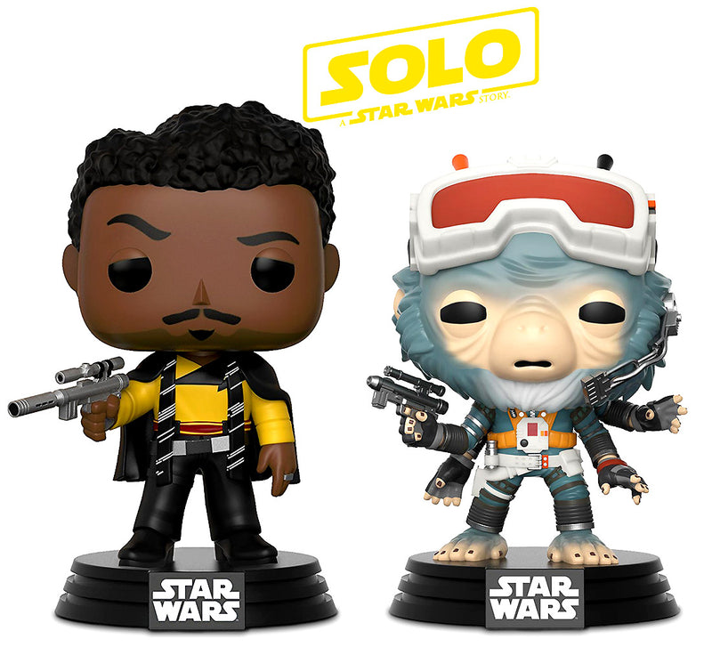 Pop Star Wars Solo Rio Durant and Lando Calrissian Bobble Heads
