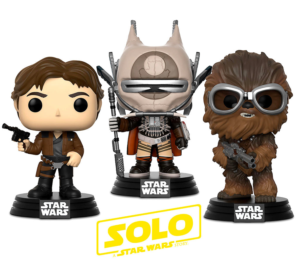 Pop Star Wars Solo Han Solo, Chewbacca and Enfys Nest Bobble Heads