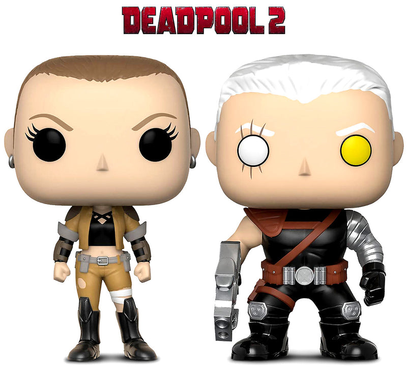 Funko Pop Marvel Deadpool Parody Negasonic and Cable Action Figure Bobble Head Action Figures Toys