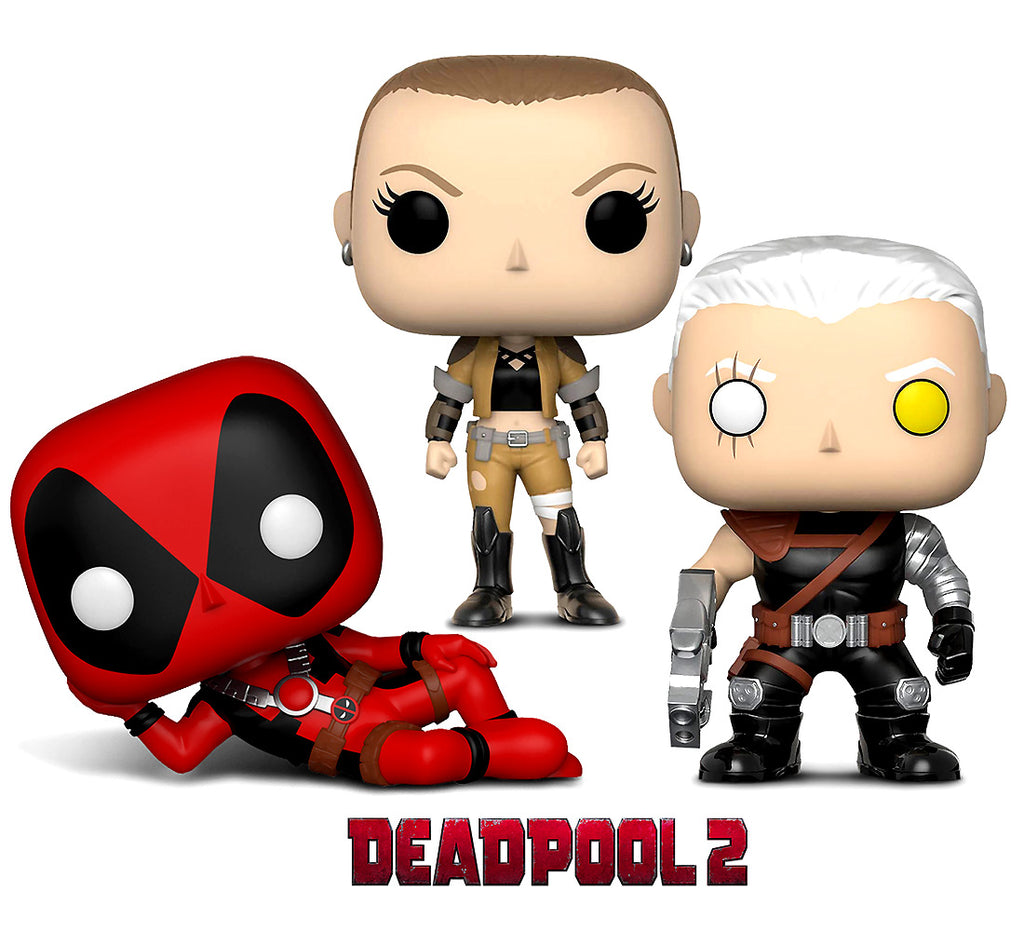 Funko  Pop Marvel Deadpool Parody Deadpool, Negasonic andCable Action Figure Bobble Head Action Figures Toys