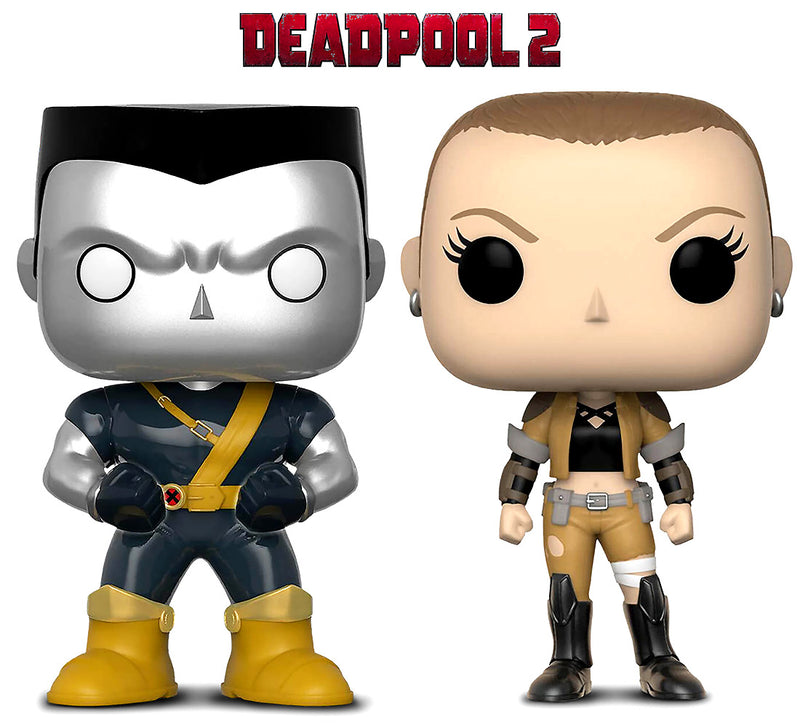 Funko Pop Marvel Deadpool Parody Negasonic and Colossus Action Figure Bobble Heads Action Figures Toys