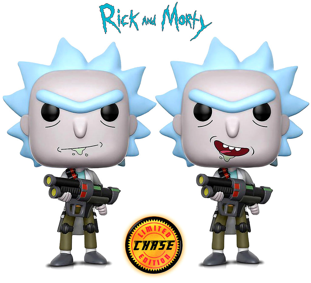 Funko POP Animation Rick and Morty Weaponized Rick and Weaponized Rick w/CHASE Action Figures Toys