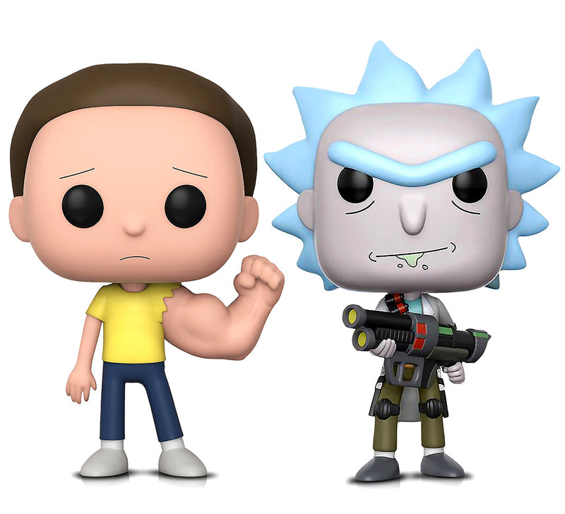 Funko POP Animation Rick and Morty Sentinent Arm Morty and Weaponized Rick Action Figures Toys