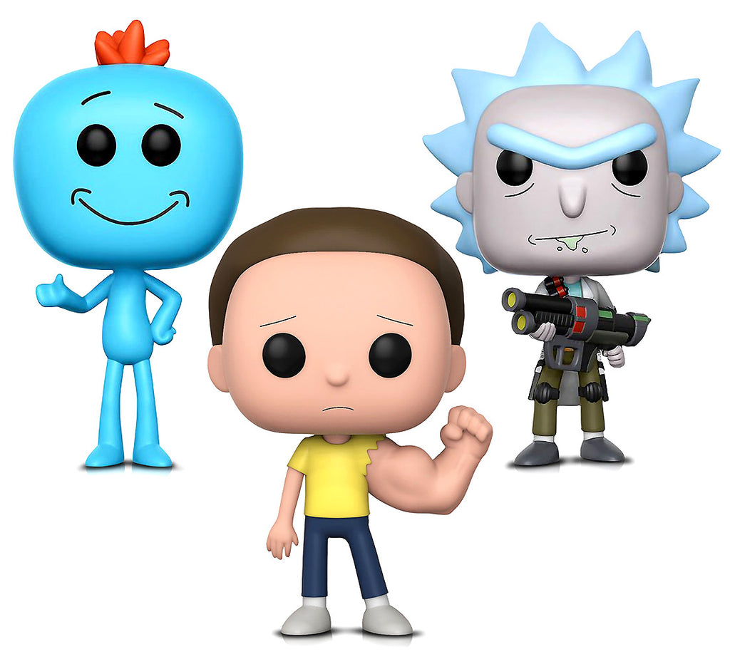 Funko POP Animation Rick and Morty Sentinent Arm Morty, Weaponized Rick and Mr. Meeseeks Action Figures Toys