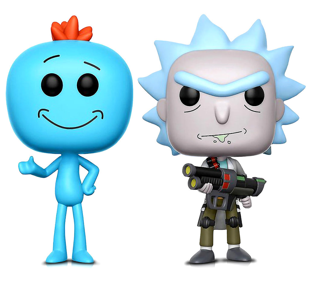 Funko POP Animation Rick and Morty Weaponized Rick and Mr. Meeseeks Action Figures Toys