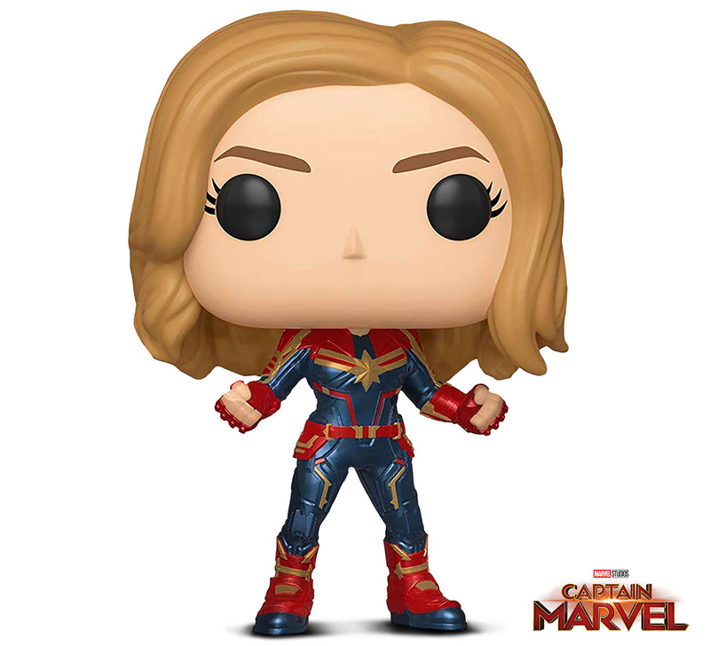 Funko Pop! Marvel: Captain Marvel (Styles May Vary) Toy, Multicolor
