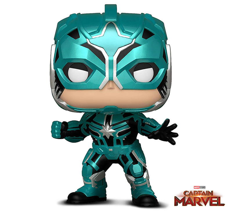 Funko Pop! Marvel: Captain Marvel - Star Commander Toy, Multicolor