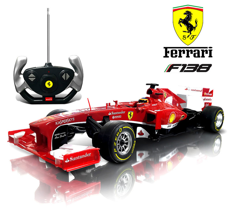 Warp Gadgets Luxurious 1:12 Scale Rastar Licensed Formula One Ferrari F138, RC, Electric Radio Remote Sports Racing Car - Toy for Kids & Adults Remote Controlled Toys
