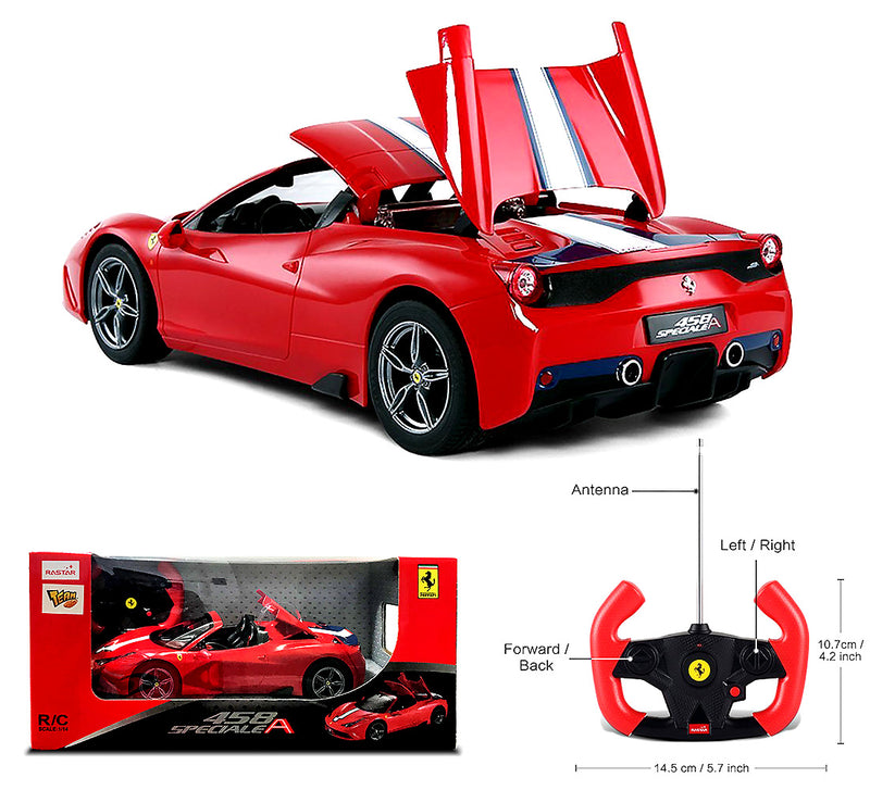 Exotic 1:14 Scale Rastar Licensed Ferrari 458 Special A, Radio Remote Control Sports Racing Car