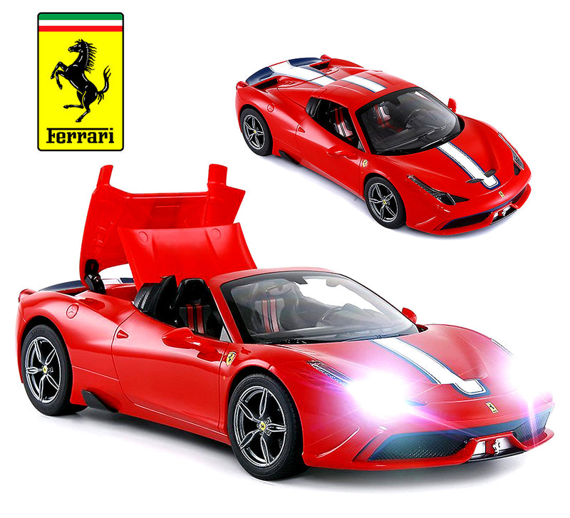 Warp Gadgets Exotic 1:14 Scale Rastar Licensed Ferrari 458 Special A, RC Convertible, Electric Radio Remote Control Sports Racing Car - Toy for Kids & Adults Remote Controlled Toys