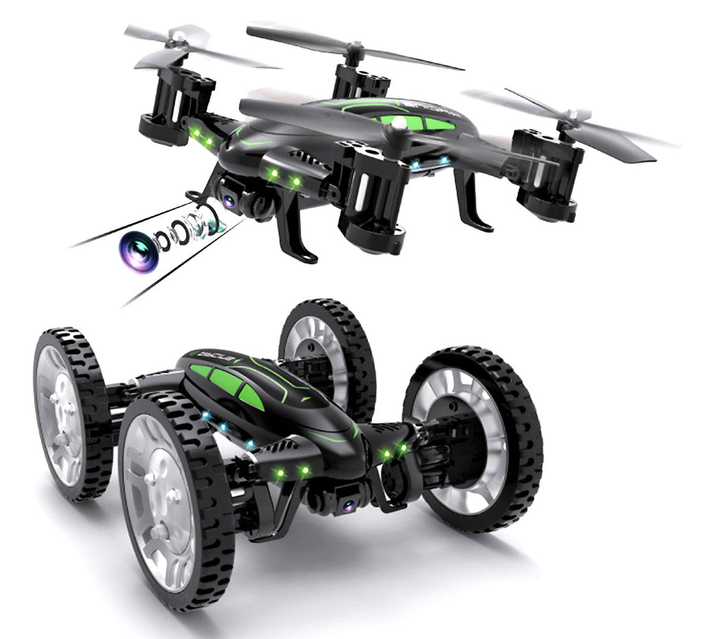 ForceFlyers Land N Air 2 In 1 Rc Drone Car With Altitude Hold Function Remote Controlled Toys