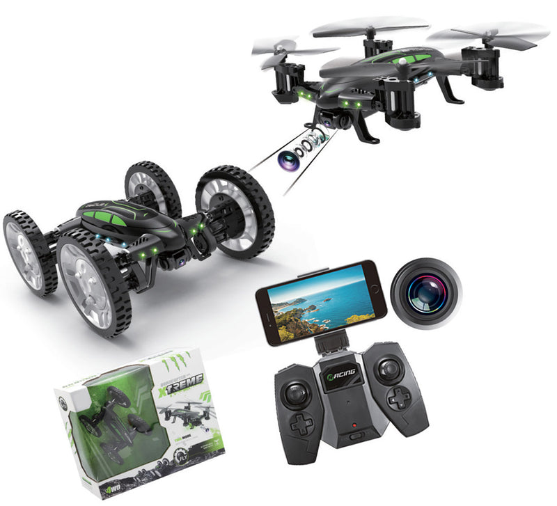 Land N Air 2 In 1 Rc Drone Car W/Hi Res Fpv Camera & Altitude Hold Function