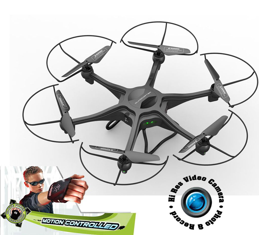 "ForceFlyers 19"" Xl Rc Drone Quadcopter With Hd Camera, 4Gb Sd Card And Motion Control Remote Controlled Toys"