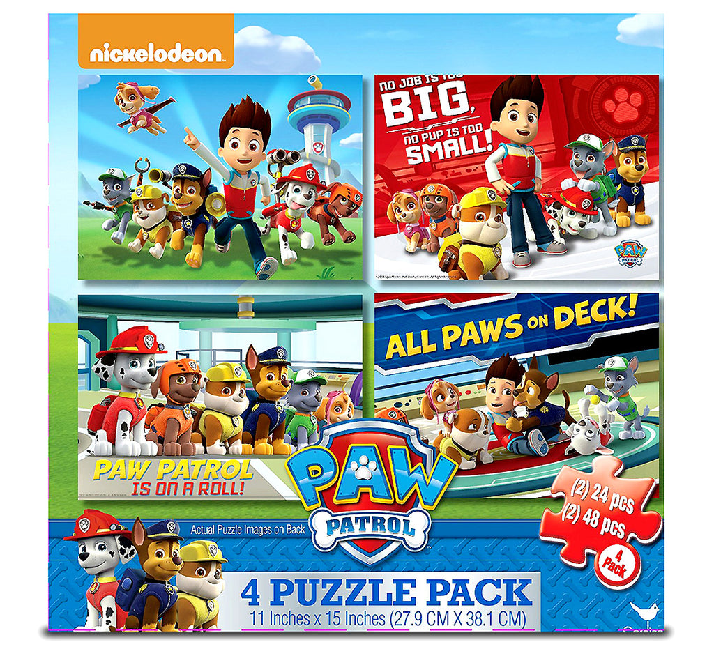 Cardinal Industries Cardinal Paw Patrol 4-Pack O By Cardinalf Puzzles Puzzles Toys