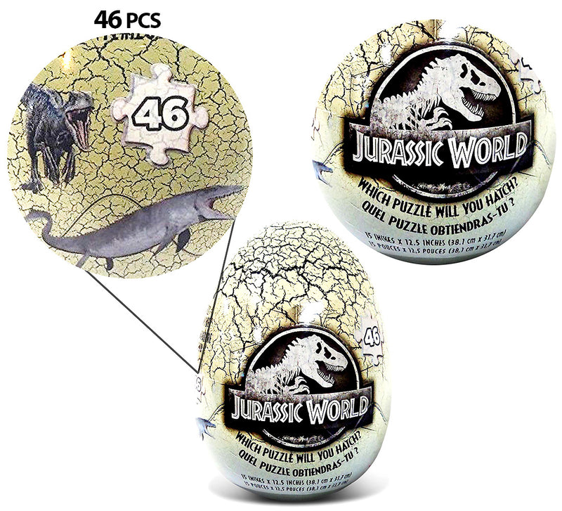 Jurassic World 46 Piece Mystery Puzzle Inside A Dinosaur Egg