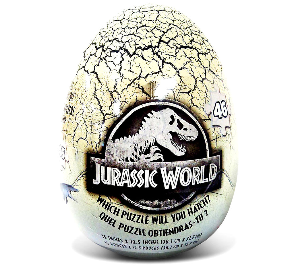 Jurassic World Jurassic World 46 Piece Mystery Puzzle Inside A Dinosaur Egg Puzzles Toys