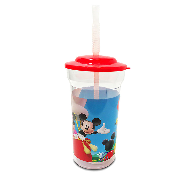 Mickey 16 Oz Sports Tumbler W Lid and Straw 55G
