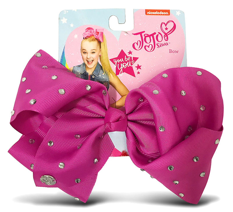 Jojo Siwa Berry Signature Bow With Rhinestones