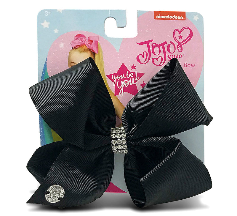 Jojo Siwa Black Center Loop Rhinestone Bow