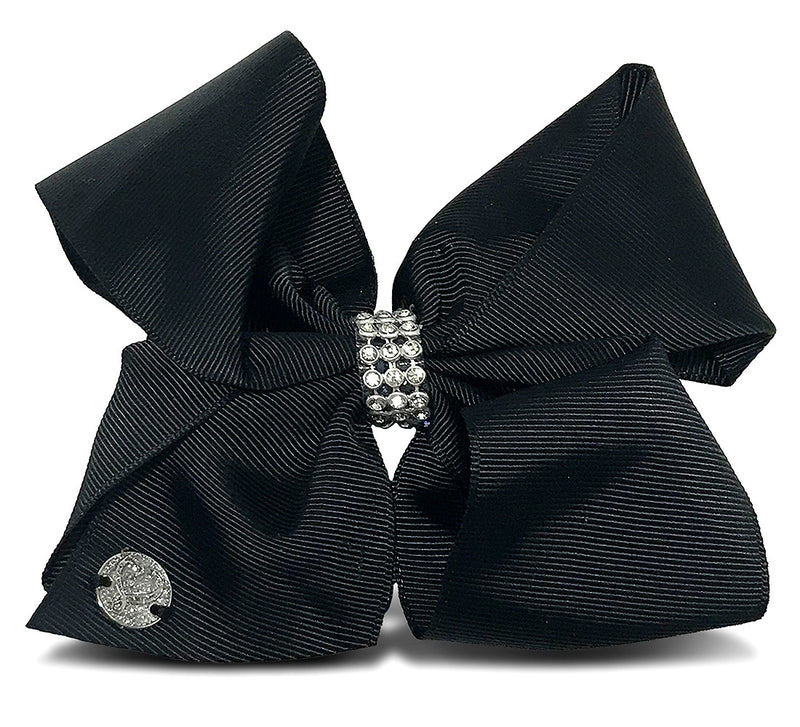 JoJo Jojo Siwa Black Center Loop Rhinestone Bow Hair Accessories Toys