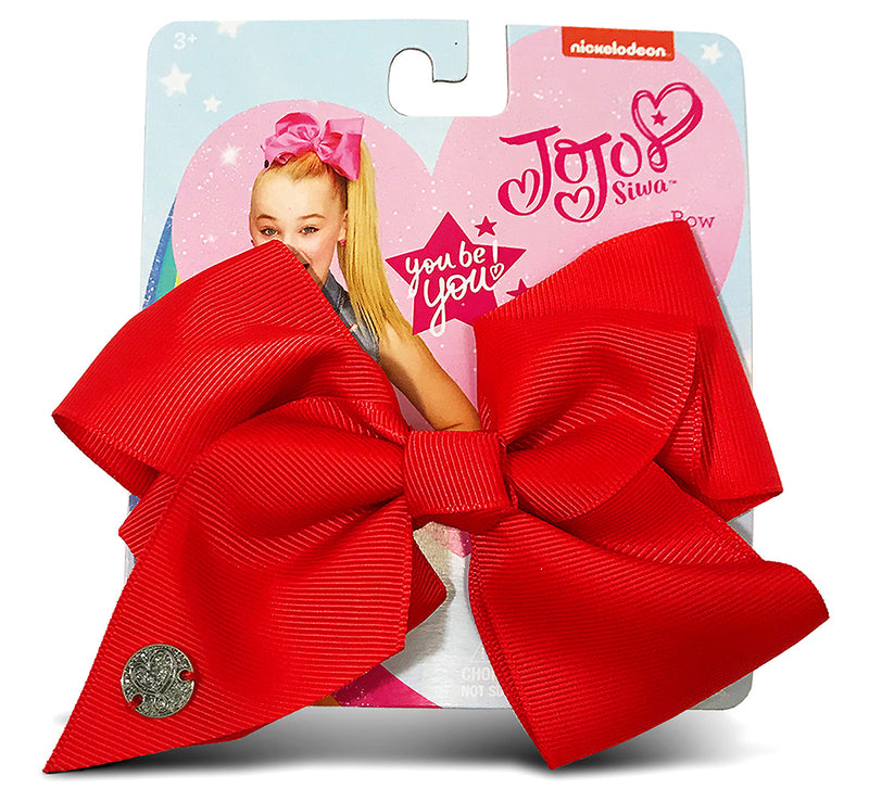 Jojo Siwa Red Basic Bow On Metal Salon Clip