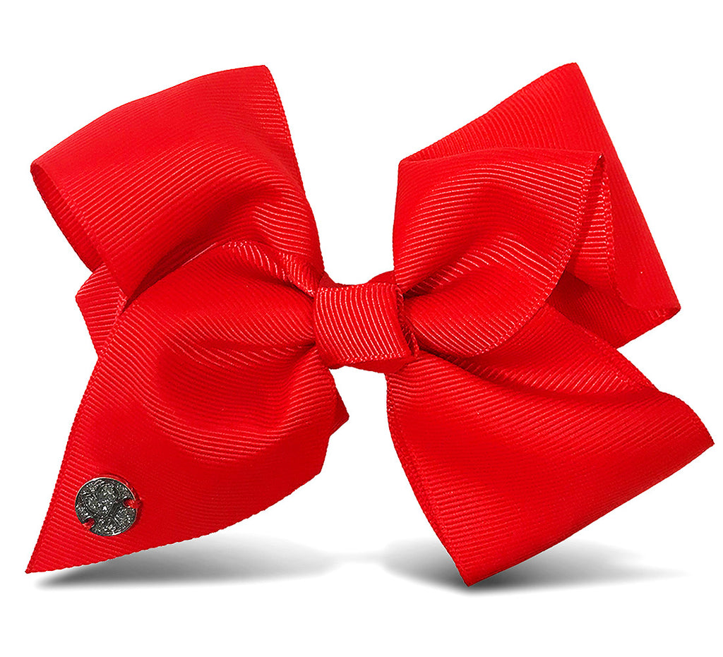 I WEAR JOJO Jojo Siwa Red Basic Bow On Metal Salon Clip Hair Accessories Toys