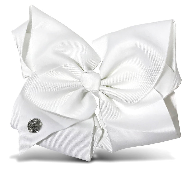 I WEAR JOJO Jojo Siwa White Basic Bow On Metal Salon Clip Hair Accessories Toys