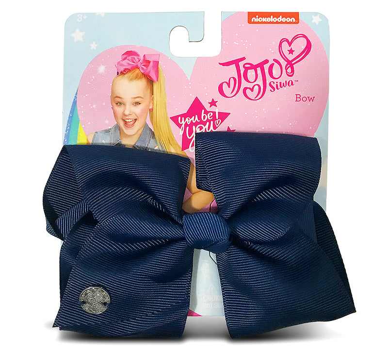 Jojo Siwa Navy Basic Bow On Metal Salon Clip