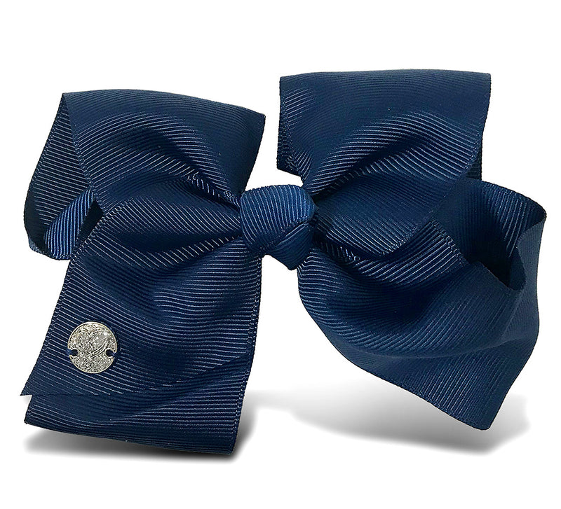 I WEAR JOJO Jojo Siwa Navy Basic Bow On Metal Salon Clip Hair Accessories Toys