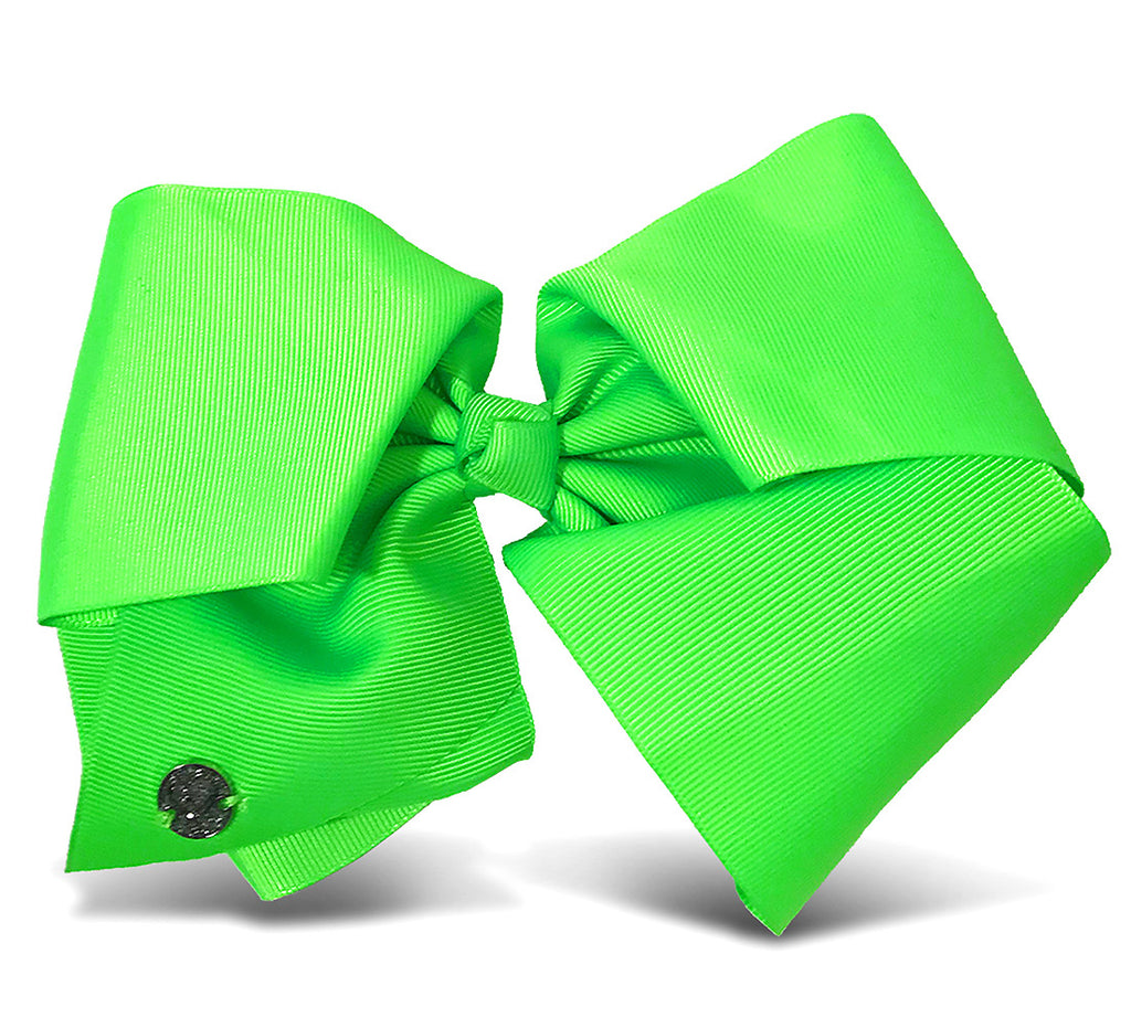 I WEAR JOJO Jojo Siwa Neon Green Basic Bow On Metal Salon Clip Hair Accessories Toys