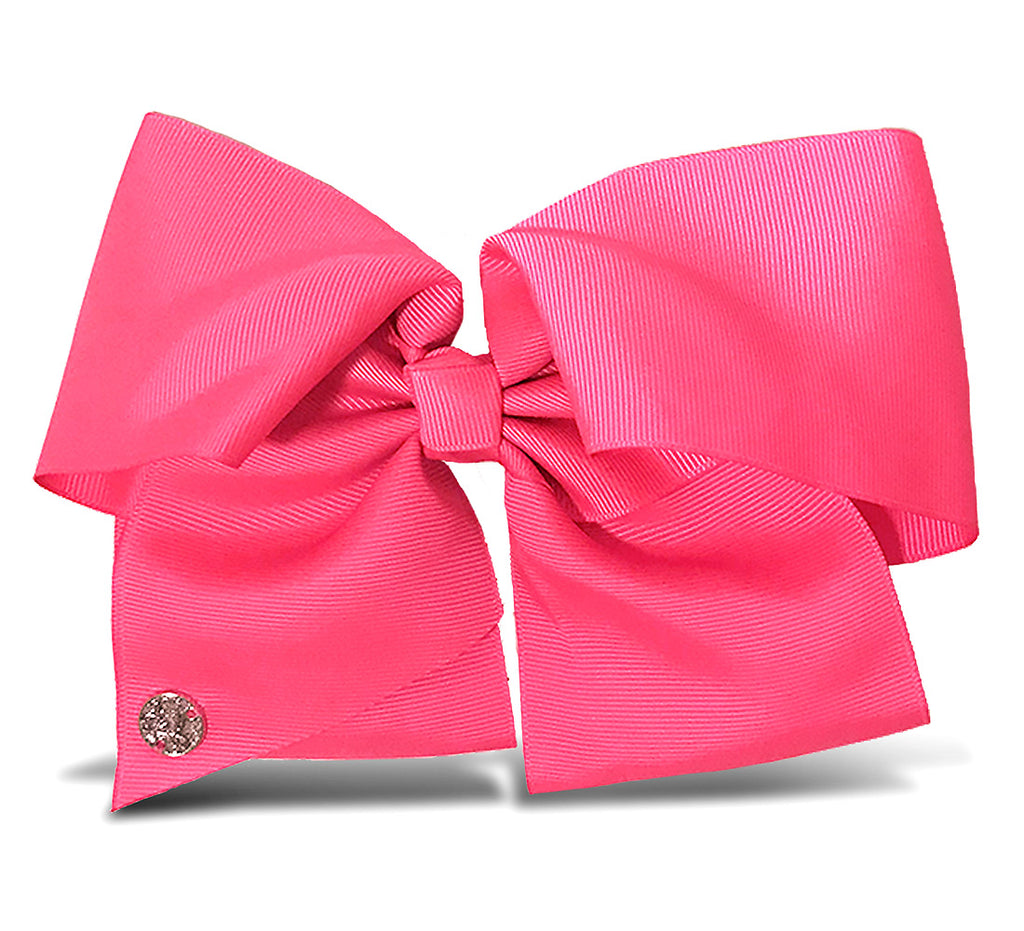 I WEAR JOJO Jojo Siwa Neon Pink Basic Bow Metal Salon Clip Hair Accessories Toys