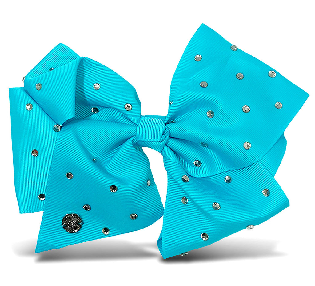 I WEAR JOJO Jojo Siwa Teal Signature Bow With Rhinestones Hair Accessories Toys