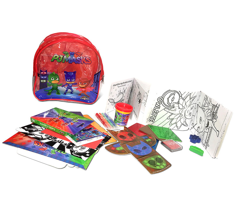 Cra-Z-Art Cra-Z-Art Pj Masks Coloring And Activity Backpack - Assorted Colors (Red/Blue) Activity Set Toys