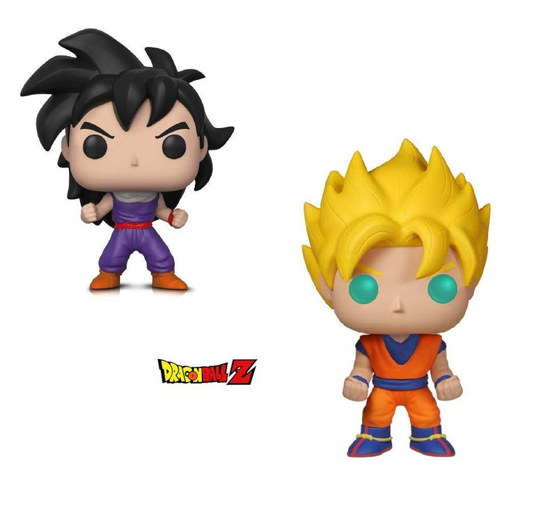 Warp Gadgets Bundle - Funko POP! Animation: Dragonball Z - Super Saiyan Goku & Gohan (Training Outfit) (2 Items)