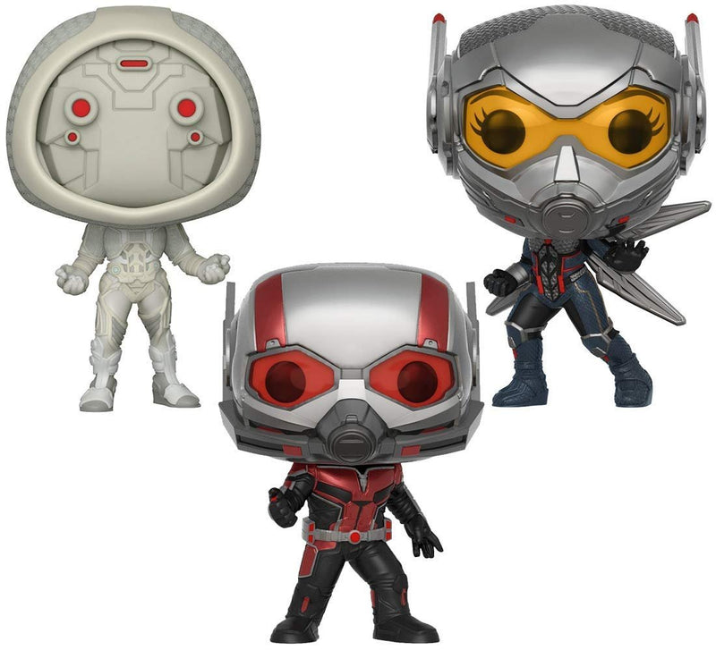 Warp Gadgets Bundle - Funko Pop Marvel: Ant-Man & The Wasp - Ant-Man, The Wasp And Ghost Collectible Vinyl Figures + 1 Free Lanyard included (4 Items)