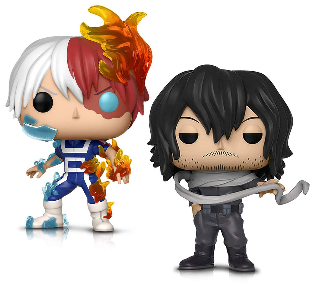Warp Gadgets Bundle - Funko Pop! Animation: My Hero Academia - Todoroki and Shota Aizawa - Vinyl Figures (2 Items)