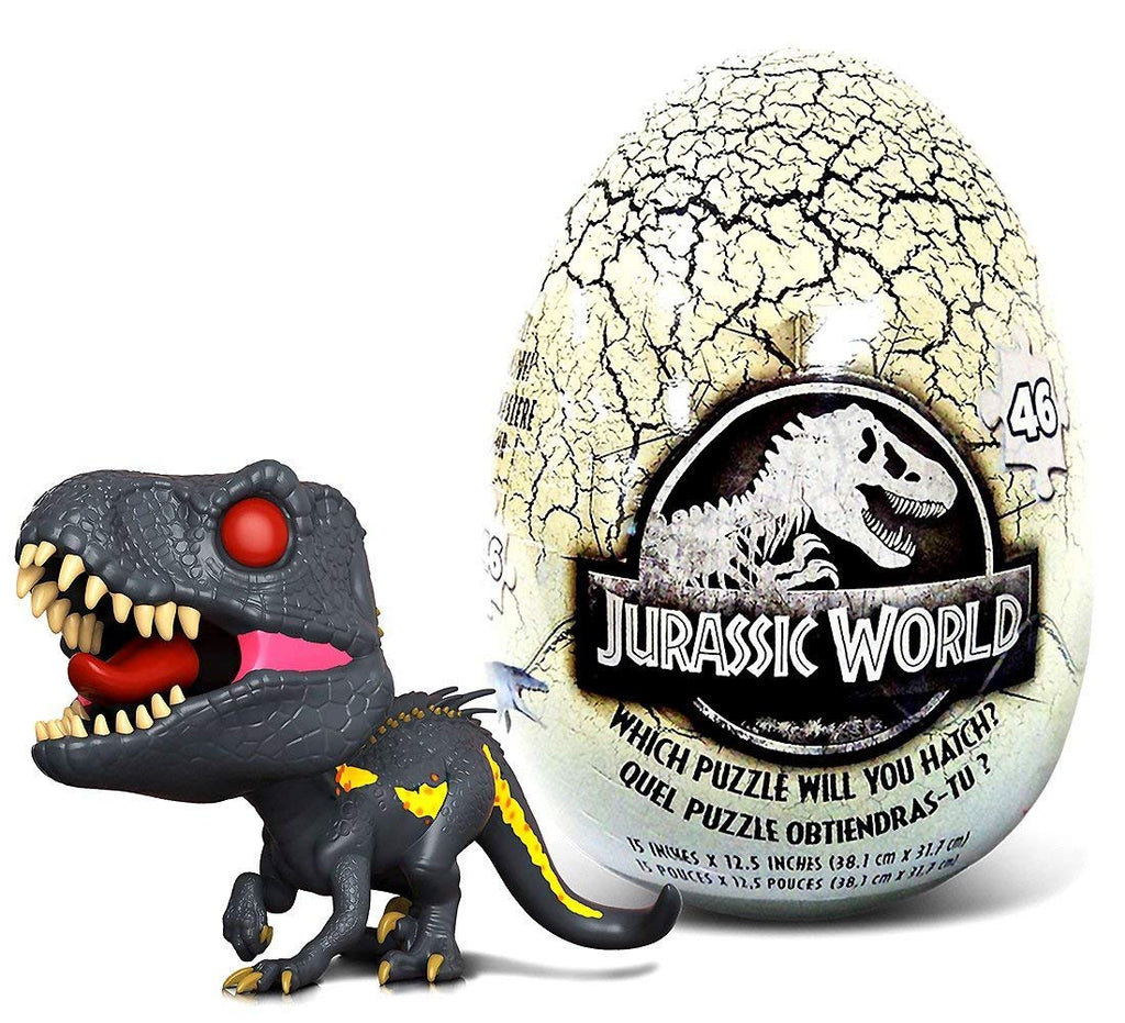 Warp Gadgets Bundle - Funko POP Movies Jurassic World 2 Indoraptor and Jurassic World 46 piece Mystery Egg Puzzle