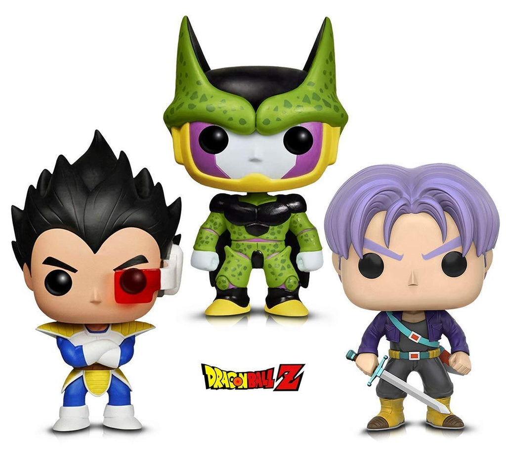 Warp Gadgets Bundle - Funko Pop! Animation: Dragonball Z - Perfect Cell, Vegeta & Trunks (3 Items)