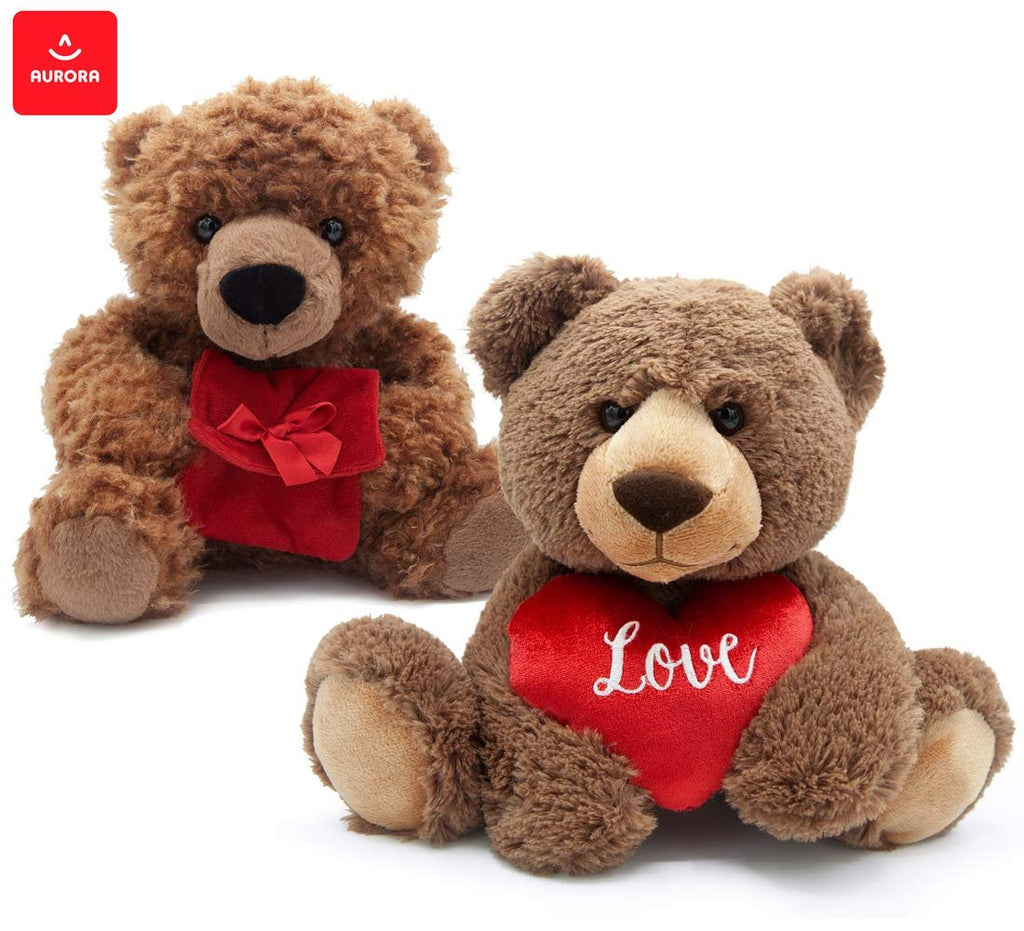 "Warp Gadgets Love Bundle - Aurora - Crazy for You Bear 12"" and Diamond Bear 13"" Plush Stuffed Toy (2 Items)"
