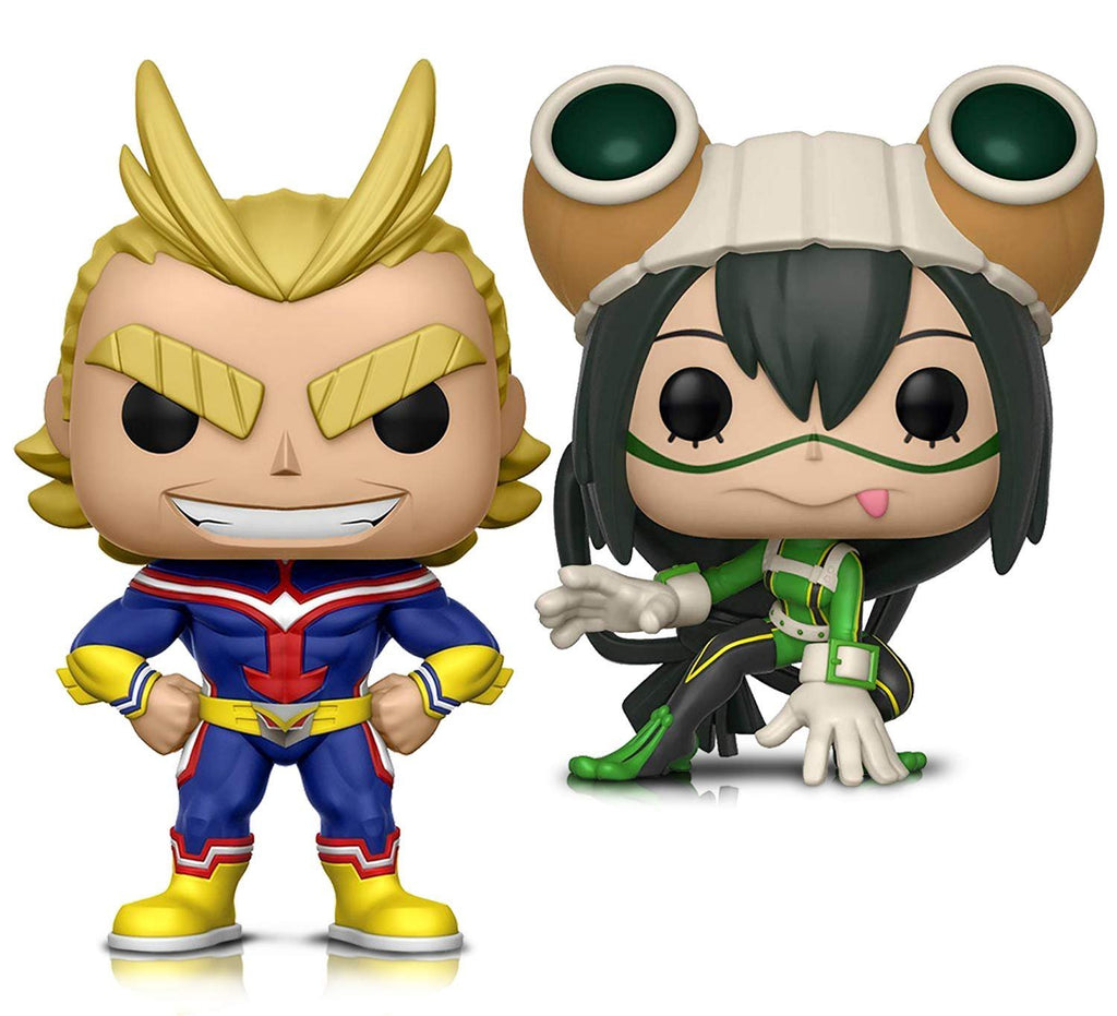 Warp Gadgets Bundle - Funko Pop! Animation: My Hero Academia - All Might and Tsuyu Asui - Vinyl Figures (2 Items)