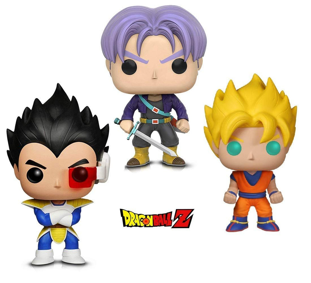 Warp Gadgets Bundle - Funko POP! Animation: Dragonball Z - Super Saiyan Goku, Vegeta & Trunks (3 Items)